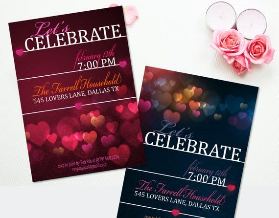 Valentines Day Party Invitation Valentine Cards Printable