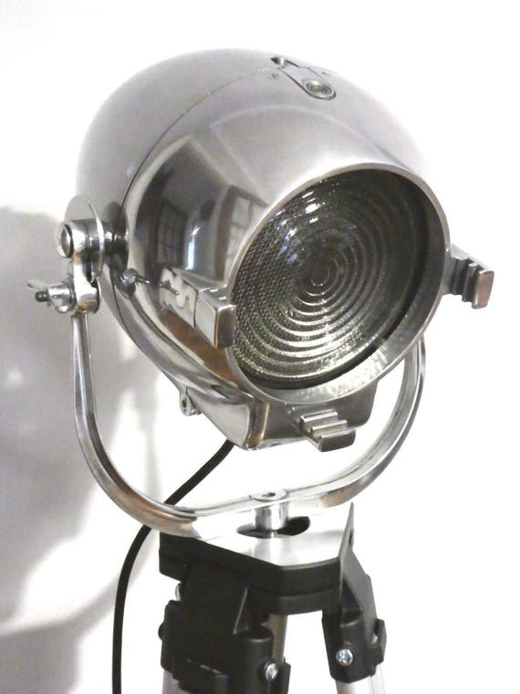 Vintage 1950s Theatre Light Antique Floor Light Industrial Studio Spot Lamp Art Deco Film Lighting Lighting Hollywood Movie Lighting Strand