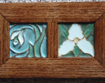 Handmade Wildflower Diptych