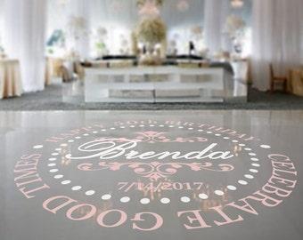 Birthday Dance Floor Decal, Birthday Decor, Birthday Decoration, Floor Decal, Dance Floor, Wedding Sticker - DFD0015