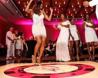 Happy 50th Birthday Dance Floor Decal, Choose 30th, 40th, 50th, 60th etc... - DFD0016