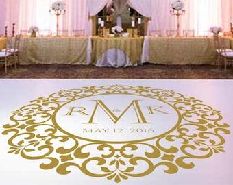 Wedding Dance Floor Decal,Vinyl Decal, Wedding Decor, Wedding Decoration, Floor Decal, Dance Floor, Wedding Sticker - DFD0011