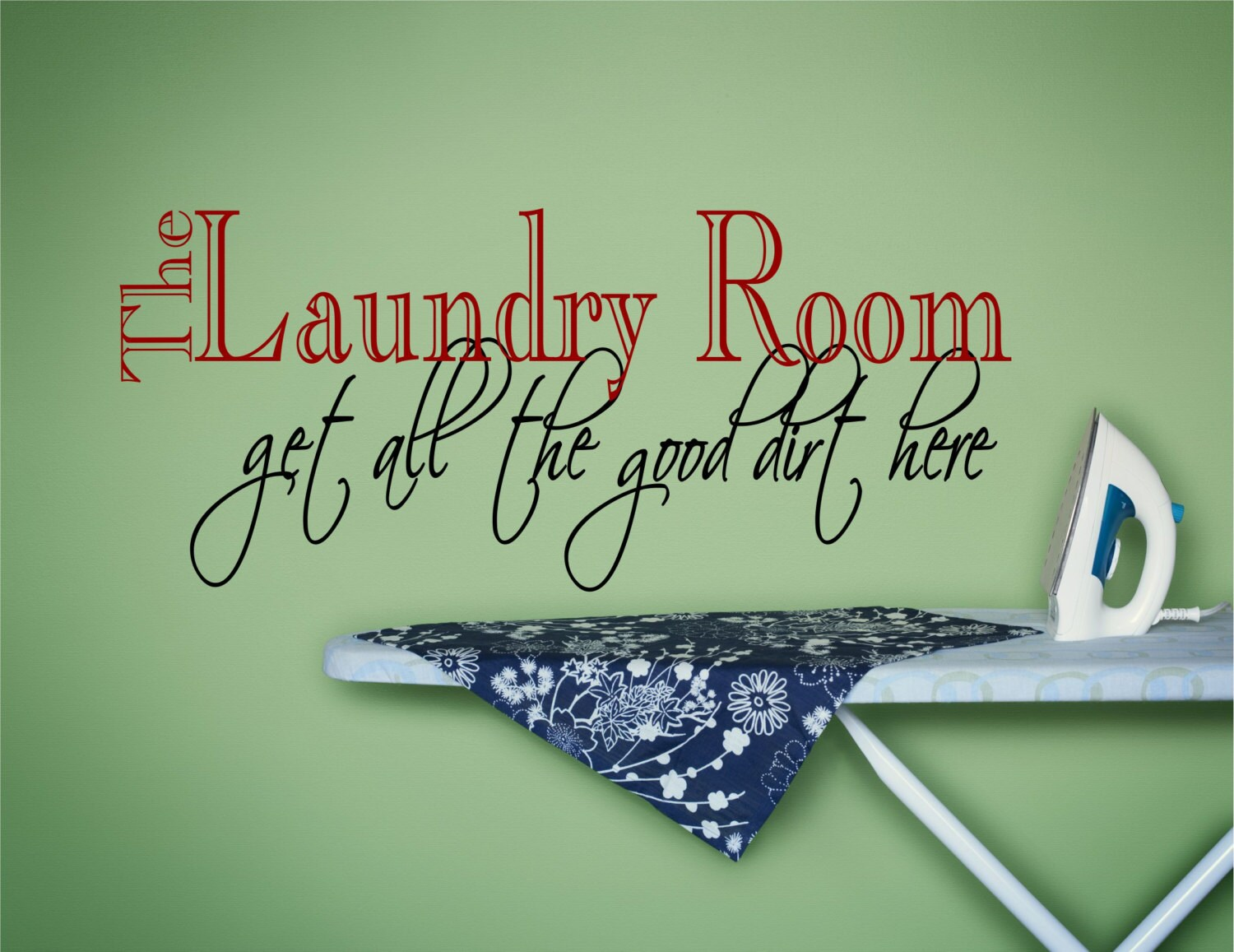 Laundry Room Wall Decal - Custom Wall Decal for Laundry ... |Laundromat Wall Art