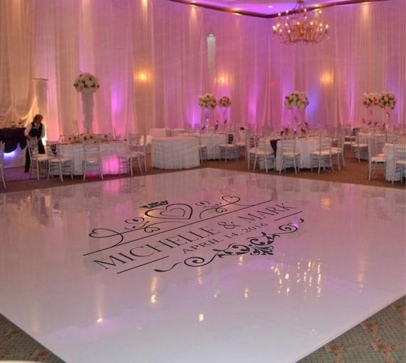 Wedding Dance Floor Decal Wedding Floor Monogram Vinyl