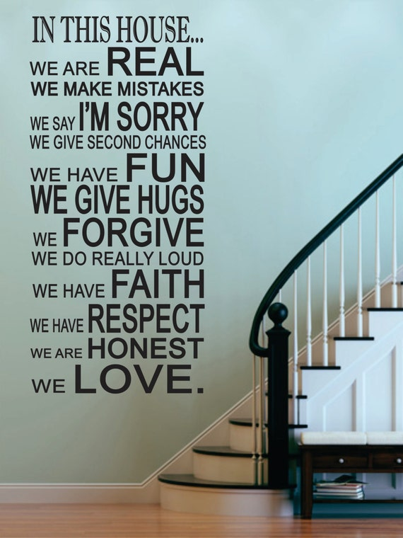 """Family House Rules /""""we do/"""" wall stickers Decal Removable Art Vinyl Decor Home Au"""
