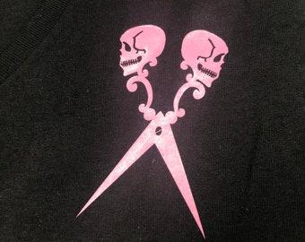 Women's Cut V-Neck Pink Logo Tee Size