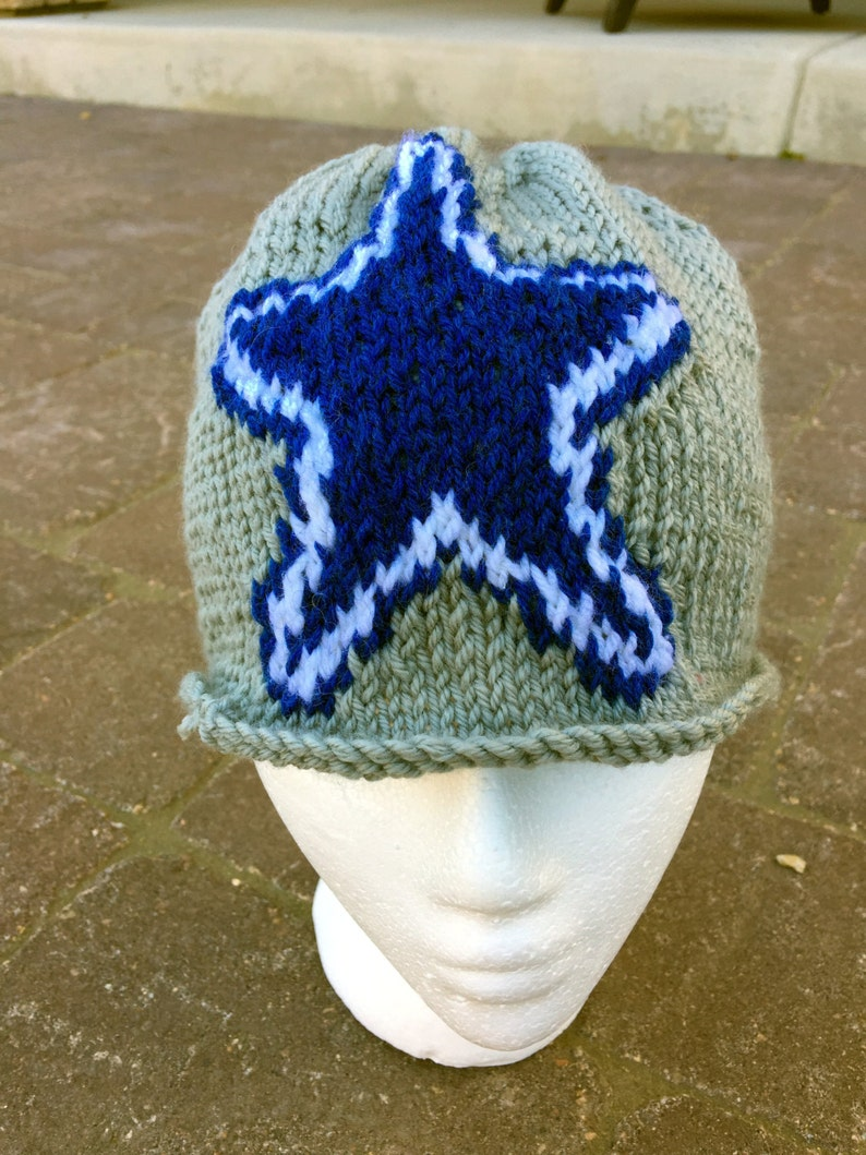 Dallas Cowboys Logo Beanie Hat PATTERN Large Unisex ...
