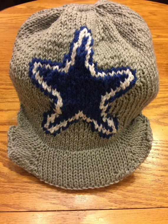 Dallas Cowboys Logo Cap Beanie Hat PATTERN Cap with Bill  78ab05d2d6d