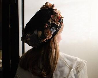 Rare Vintage Art Deco Myer Siegel & Co. Los Angeles Womans Straw Cloche Hat
