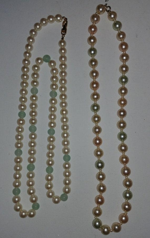 Vintage Faux Pearl Necklaces - image 2