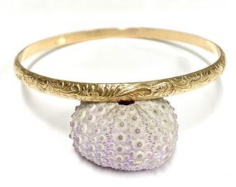 Bangle Jasmin - 4mm Hawaiian heirloom bangle - Hawaiian jewelry - bridesmaid gift (B287)