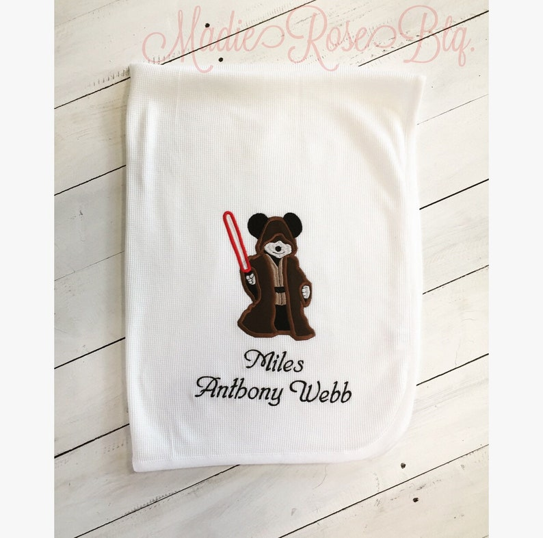 Star Wars Baby Blanket, Personalized Star Wars Baby Blanket, Jedi Mickey  Blanket