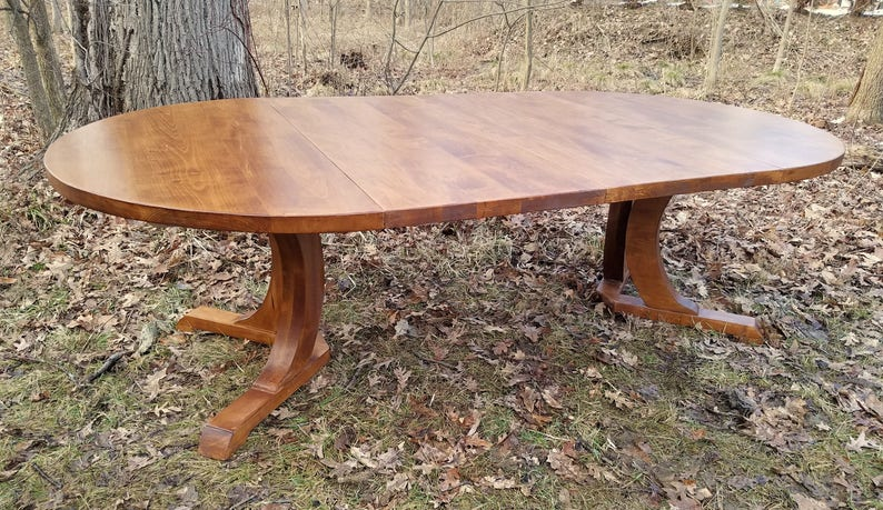 VERY large Weathered Maple Extension Table 54  image 0