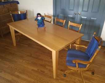 Handsome Maple Parson's Table - Baby Doll not Included
