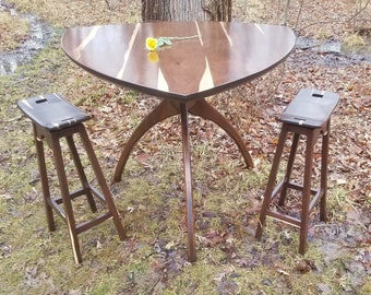Bar-Height Tri-Walking Table with a Paulie Walnuts Top