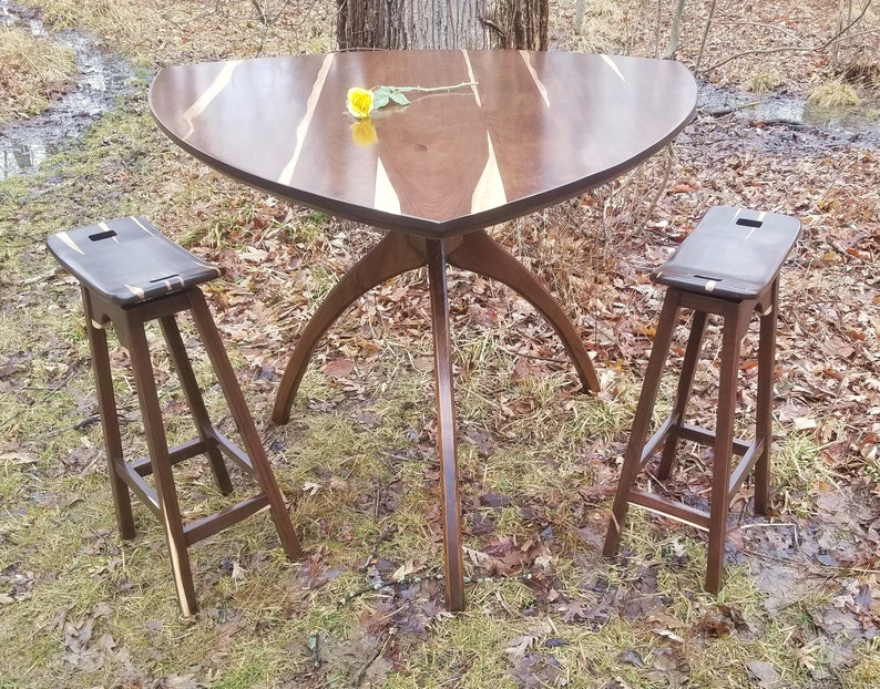 Bar-Height Tri-Walking Table with a Paulie Walnuts Top image 0