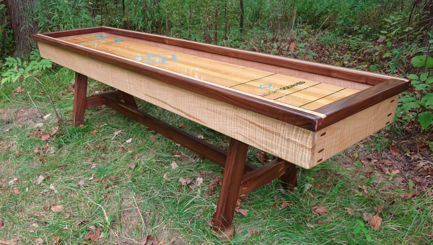Tiger Maple Shuffleboard Table 9 Foot Or Curling Table Etsy