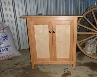 Curly Maple and Cherry Side Cabinet