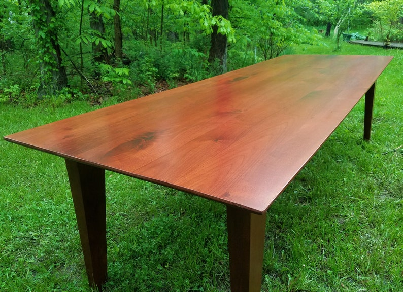 Another one of My Favorite Walnut Parsons Tables image 0