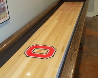 16' Ohio State Game Table in Distressed Oak Style
