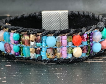 Cuff bracelet original ecochic unique one of a kind trending fun boho luxe jewelry by ALadysBliss