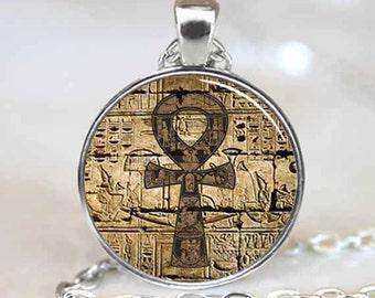 Egyptian Ankh Pendant, Egyptian Ankh Necklace, Eternal Life pendant, Egyptian Necklace, Egyptian Jewelry (PD0287)