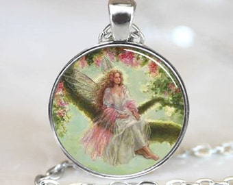 Vintage Tree Fairy Handcrafted  Necklace Pendant (PD0481)