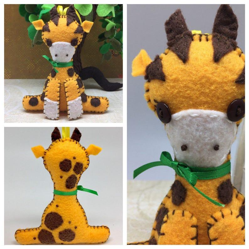 felt giraffe nursery decor jungle animal africa wildlife decor safari ornament Giraffe ornament stuffed giraffe wildlife safari gift