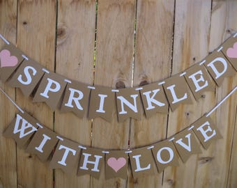 91e9d0688b1 Sprinkled With Love Banner- Baby Sprinkle
