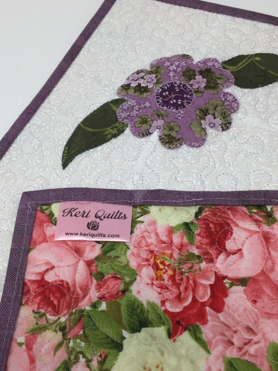 Pink and Purple Flower Table Topper