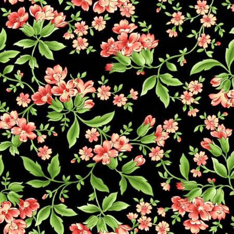 24 Pieces Green Leaves Floral Fat Quarter Bundle Pink Stripes Maywood Studio Precut Quilt Fabric Sommersville White