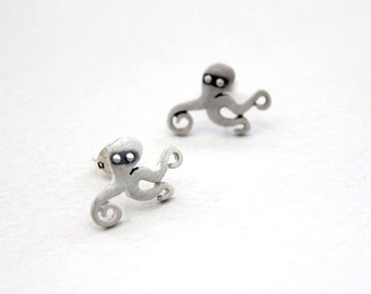 Octopus earrings 21st birthday Gift for women Mothers day gift Sister gift Nature jewelry Animal jewelry Animal stud earrings Octopus gift