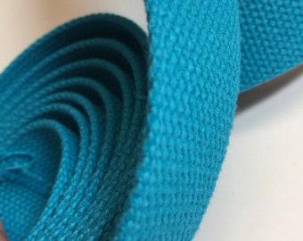 Aqua Blue Heavyweight Cotton Belting | 1.25x1 yard