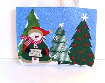 Snowman Gift Tote -Post Holiday Sale