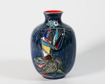 Marcello Fantoni vase  1960s Italian Pottery Cubist Picasso modern art decor