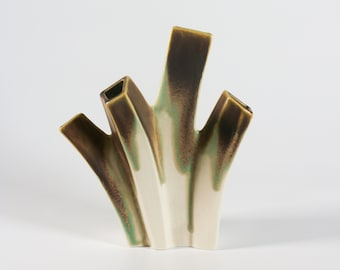 Sgrafo Modern Korallen porcelain vase 2019 West Germany pottery 1970s minimalist home decor