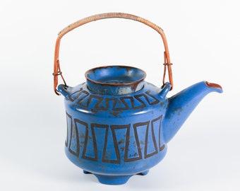 Vintage Ceramano Pergamon teapot West German Pottery 1960s Fat Lava vase, Hans Welling midcentury modernist ceramics