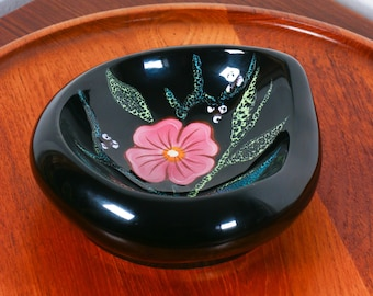 Vintage Gabriel Fourmaintraux freeform bowl, 1960s French pottery, midcentury French decor, catch all desk decor