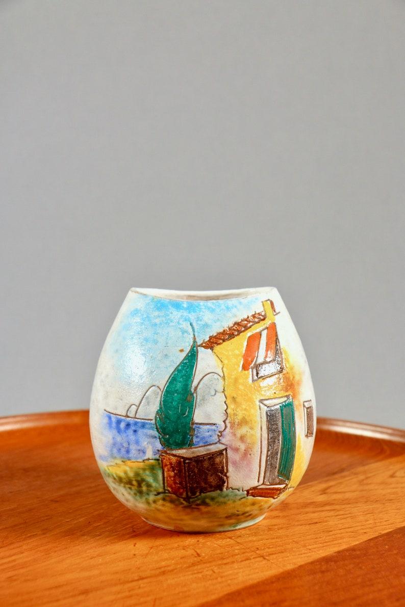 Herta Huber Roethe Garda vase  1950s West German pottery image 0