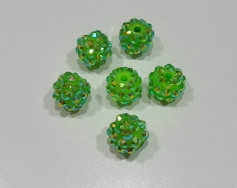 10 x 6 mm Strass En Laiton AB Clair Spacer Beads