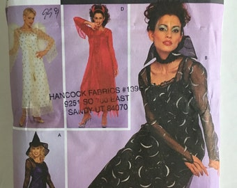 f5d8ed47d7 Misses Adult Vampire Angel Devil Witch Gown Dress Halloween Costume Sewing  Pattern Simplicity 9309 Size 14 16 18 20 Uncut FF
