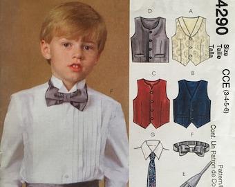 -FF Boys Bow Tie Handkerchief Set Coral