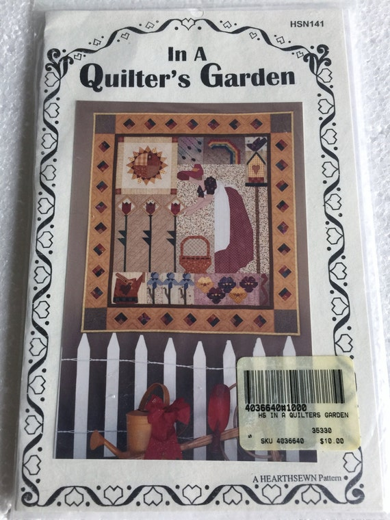 A Quilters Garden Spring Gardening Wall Quilt Sewing Pattern Etsy