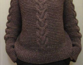 Sweater in alpaca,cotton blend size S/M