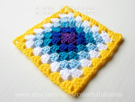 Double Crochet Granny Square Chart Pattern No 7 Of The Etsy