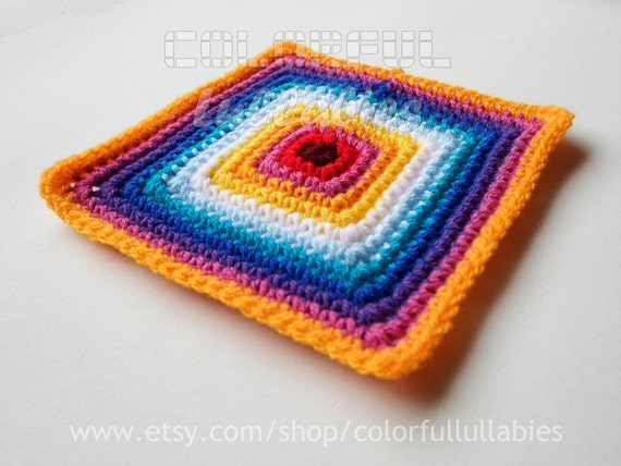 Single Crochet Solid Square Chart Pattern No 1 Of The Etsy