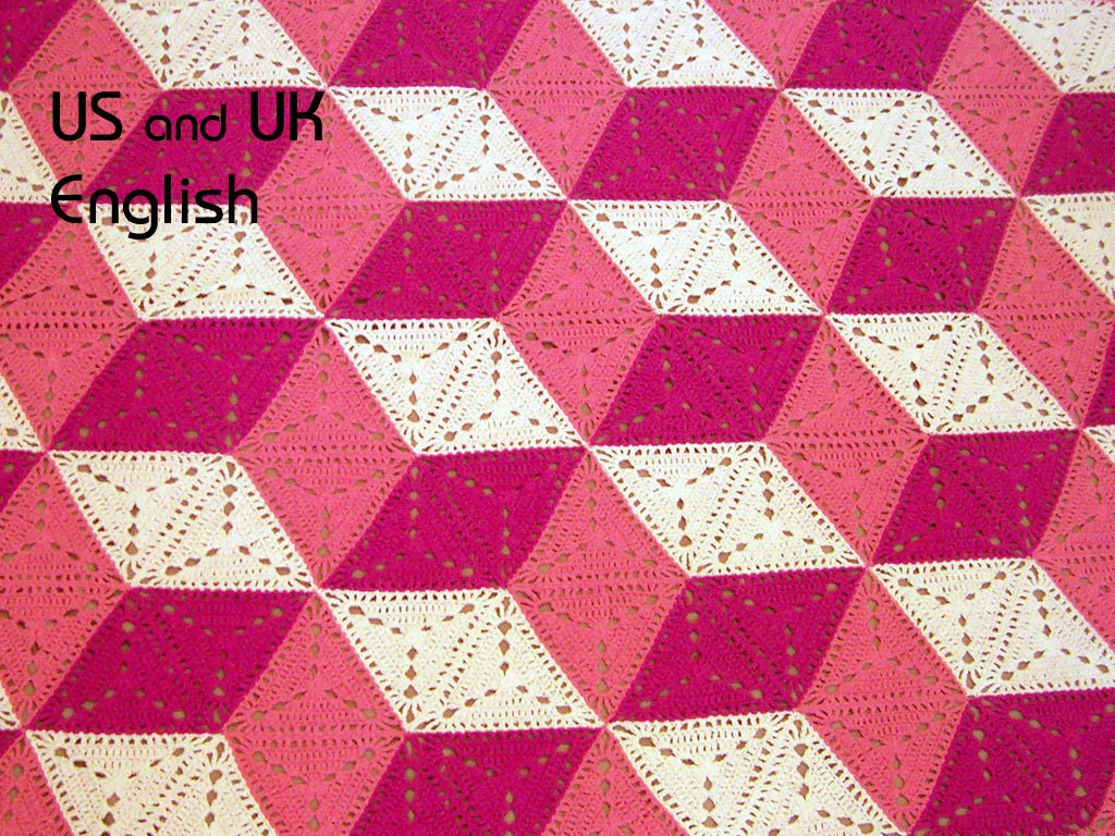 3d Illusion Blanket Crochet Pattern Stacked Cubes Optical Etsy