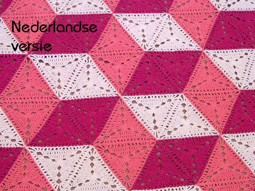 3d Illusion Blanket Crochet Pattern Dutch Version Stacked Etsy