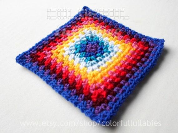 Single Crochet Granny Square Chart Pattern No 5 Of The Etsy