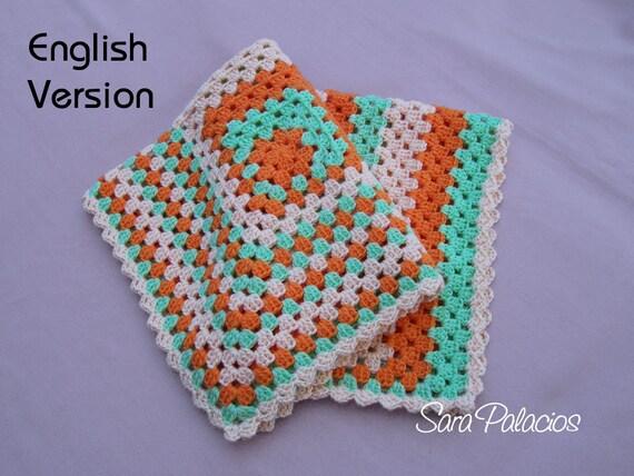 Asymmetrical Granny Square Afghan Crochet Pattern Crochet Etsy